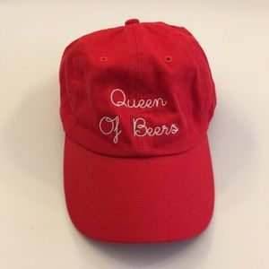 Queen of beers red hat/baseball cap